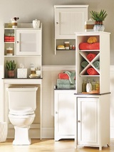 Narrow bathroom storage cabinet thumb200