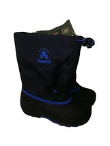 Kamik Boys'   Waterbug5 Boot  BLACK - BLUE  SZ 4 - $49.50