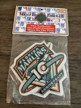 Florida Marlins 10TH Anniversary Official Mlb Sleeve Patch - Sealed - $12.97