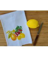 """Vintage Inspired Kitschy Fruit Cotton Flour Sack Tea Towel 15"""" x 25"""", 19... - $10.99"""