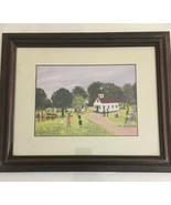 Ruth Russell Williams 1994 Print, Framed and Matted Picture Of Church In... - $247.49