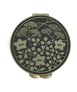Vintage 1960s 1970s Zen By Shiseido Pill Box Solid Perfume Compact Silve... - $19.75