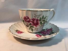 Royal Adderley Fine Bone China Teacup Saucer Provincial Flower Prairie Rose - $15.33