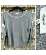Madewell Sweater XS Womens Long Sleeve Gray Crew Neck Top - $32.56