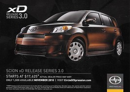 2011 SCION xD RELEASE SERIES RS 3.0 Edition sales brochure card sheet 11... - $8.00