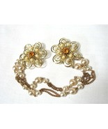 CORO Convertible Pearl Chatelaine Brooches, Necklace, Scatter Pins, 1940... - $32.00