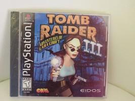 Tomb Raider III Lara Croft (Sony PlayStation 1, 1998) FACTORY SEALED BLACK LABEL - $33.48