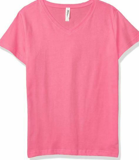 Marky G Women's 2-Pack Combed Ring spun V-Neck T-Shirt, Raspberry Pink, Size XS