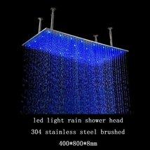Cascada 16 x 31 Inch Luxury Large Recangular LED Rain Bathroom Showerheads Brush - $683.05