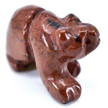 Mahogany Obsidian Gemstone Tiny Miniature Bear Figurine Hand Carved China image 5