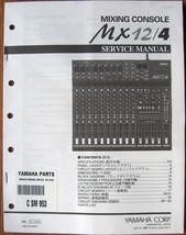 Yamaha MX12/4 Mixing Console Mixer Original Service Manual, Schematics Book - $39.59