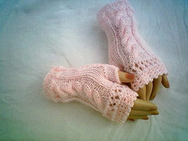 Cable Fingerless Glove Ladies Pattern Knitting Crochet by CarussDesignZ ... - $3.99