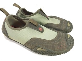 TEVA gray bumper toe mesh stretch aquatic athletic shoes 8 FREE SHIP! - $18.76