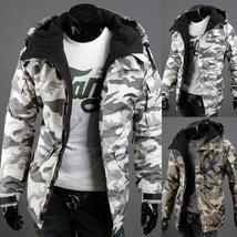 2017 New Thin Section Camouflage Wind Men's Hoodedcotton Pure Cotton Coat men Zi