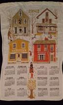 1983 Kitchen Calendar Tea Towel Cotton Antiques Country Store Candies To... - $9.89
