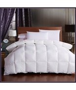 King Size White Jacquard Weave Silk Quilted White Duck Down Duvet Comforter - $289.95