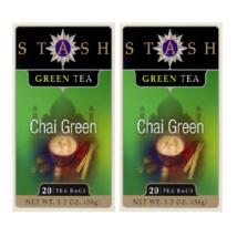 Stash Tea Green Chai Green Tea, 20 Tea Bags (Pack of 2) - $11.29