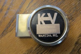 Advertising Money Clip, K.V Supply Hardware Fasteners,Waukesha Wis. - $14.25