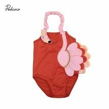1-6Y Toddler Kids Baby Girls 3D Birds Backless Halter Beach Bikinis Swim... - $10.19