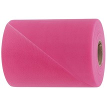 "hot pink decorating tulle bolt each spool is 6"" x 25 yards for bows and draping - $2.69+"