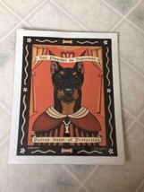 Doberam Dog - Retro Pets 8x10 Art Print Krista Brooks Patron Saint of Pr... - $14.03