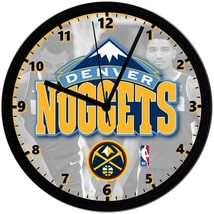 "Denver Nuggets LOGO Homemade 8"" NBA Wall Clock w/ Battery Included - $23.97"