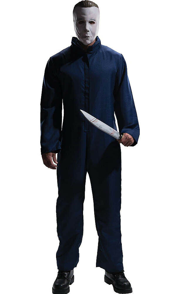 Michael Myers Coveralls Jumpsuit Costume with Mask, Plus Size, Halloween