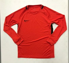 New Nike Youth Unisex M Long Sleeve Shirt Football Soccer Dri-FIT Orange... - $13.37