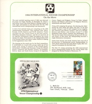 USPS Collectible Stamps, International Soccer Championship, 1st Day , 50... - $2.99