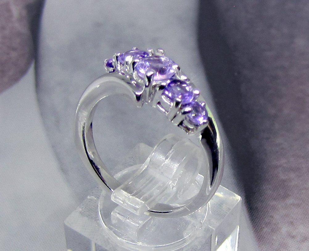 925 Sterling Silver Natural Fine Quality Heart Shape Amethyst Gemstone Handcraft image 3
