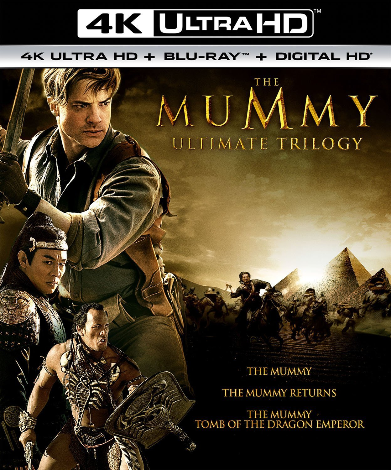 The Mummy Ultimate Trilogy  [4K Ultra HD + Blu-ray + Digital 6 Disc Set]
