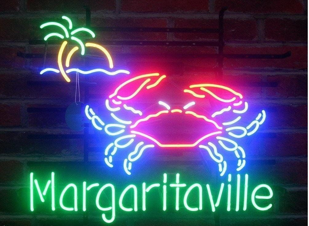 """New Margaritaville Crab Open Beer Neon Sign 24""""x20"""" Ship from USA"""