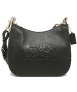 NWT COACH Jes Hobo Shoulder Bag Strap Clip Classic Leather Gold Black F7... - $153.45