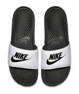 Nike Mens Benassi JDI Slide White/Black 343880-100 - $28.95