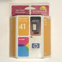 HP 41 HP41 Printer Ink Cartridge Tri-Color Expired January 2003 - $4.95