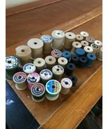Huge Vintage Lot of Talon J.P. Coats Lily Empty Wood Spools – a few with... - $12.19