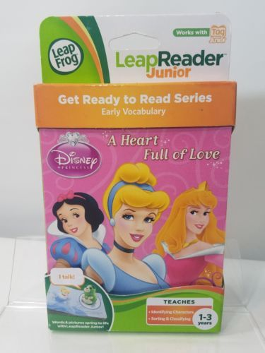 LEAP FROG LEAP READER DISNEY PRINCESS BOOK A HEART FULL OF LOVE AGES 1-3 NWB