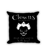 Best gifts for Cute Clown - Square Pillow Case w/ stuffing - $23.00