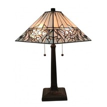 """Amora Lighting AM308TL14 Tiffany Style White Mission Table Lamp 22"""" Tall - $120.00"""