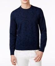 New $110 Men's Tommy Hilfiger Blue Paisley Cotton Sweater Sz M & 2XL - $45.00