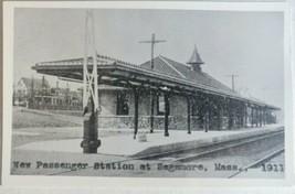 1911 RPPC Postcard Railroad Station Depot Sagamore Massachusetts Kodak  - $25.18