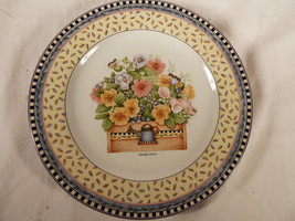 Sakura Debbie Mumm Spring Bouquet Flower Box Salad Plate - $10.94
