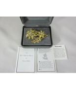 Nolan Miller Floral Fantasy Series Gold Kist Dahlia Pin Brooch - $89.09