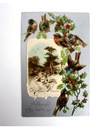 Vintage 1906 Embossed A Peaceful Christmas to You Postcard with 1 Cent S... - $4.99