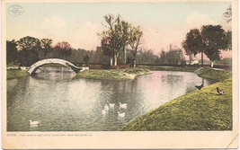 "1906 Detroit Publishing Co PC ""The Lake In Metairie Cemetery"" Uncirculated! - $8.00"