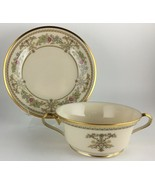Lenox Castle Garden Cream soup bowl and dessert plate / saucer - $65.00