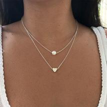 KISSWIFE Bohemia Simple fashion Imitation pearl love Heart Double layer ... - $2.99