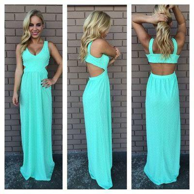 blue prom Dress,chiffon Prom Dress,backless prom dress,long prom dress,evening d