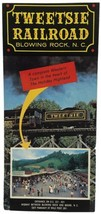 Vintage 1970s Travel Brochure Tweetsie Railroad Blowing Rock, NC Trifold... - $14.69