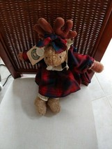 "Vintage retired Boyds Bears Minney Moose Plush 15"" The Artisan Series with tags - $12.56"